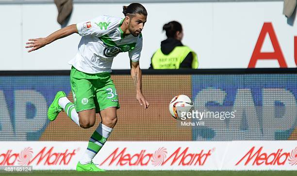 Ricardo Rodrguez of Wolfsburg runs with the ball during the Bundesliga match between FC Ingolstadt and VfL Wolfsburg at Audi Sportpark on September...
