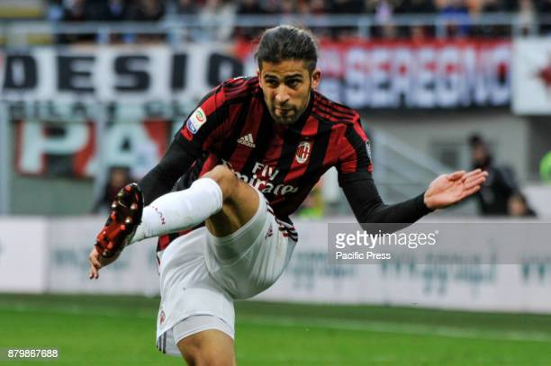 Ricardo Rodriguez of AC Milan during Italian serie A match AC Milan vs Torino FC at San Siro Stadium The Italian Serie A match between AC Milan and...