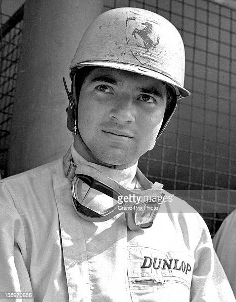 Ricardo Rodriguez of Mexico driver of the Scuderia Ferrari Ferrari 156 Sharknose before the start of the Italian Grand Prix on 16th September 1962 at...