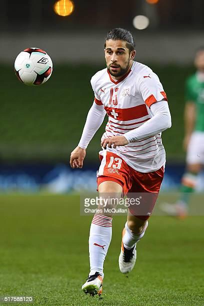 Ricardo Rodriguez of Switzerland during the international friendly match between the Republic of Ireland and Switzerland at Aviva Stadium on March 25...