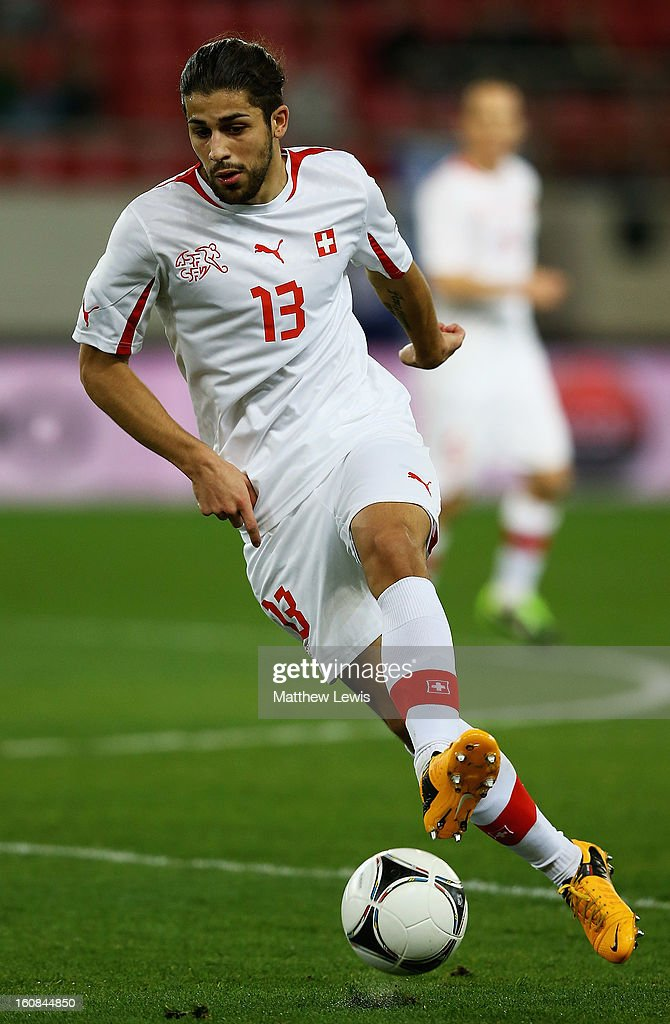 Ricardo Rodriguez of Switzerland in action during the International Friendly match between Greece and Switzerland at Karaiskakis Stadium on February 6, 2013 in Athens, Greece.