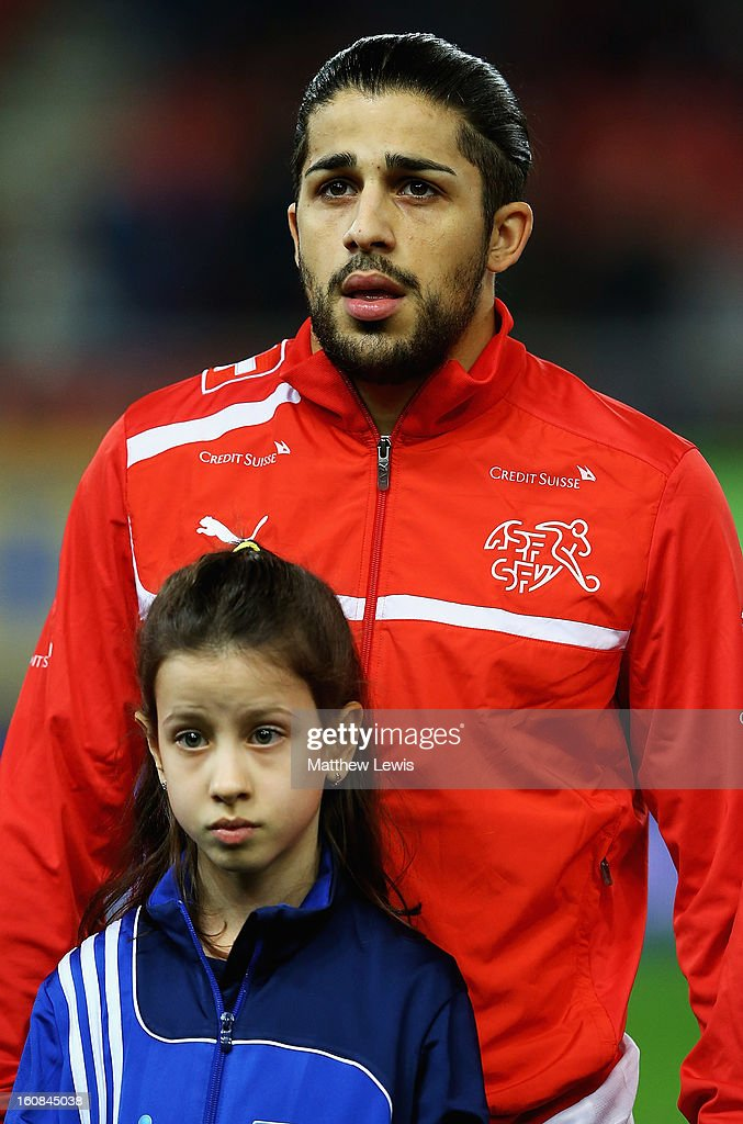 Ricardo Rodriguez of Switzerland lines up ahead of the International Friendly match between Greece and Switzerland at Karaiskakis Stadium on February 6, 2013 in Athens, Greece.