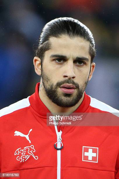 Ricardo Rodriguez of Switzerland looks on prior to the international friendly match between Switzerland and BosniaHerzegovina at Stadium Letzigrund...