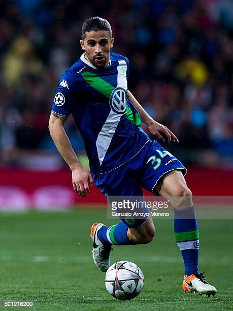 Ricardo Rodriguez of VfL Wolfsburg controls the ball during the UEFA Champions League quarter final second leg match between Real Madrid CF and VfL...
