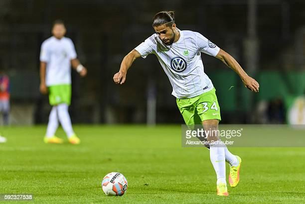 Ricardo Rodriguez of VfL Wolfsburg during the DFB Cup match between FSV Frankfurt and VfL Wolfsburg at Frankfurter Volksbank Stadion on August 20...