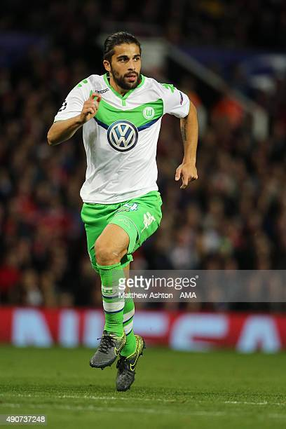 Ricardo Rodriguez of VFL Wolfsburg during the UEFA Champions League match between Manchester United and Wolfsburg at Old Trafford on September 30...