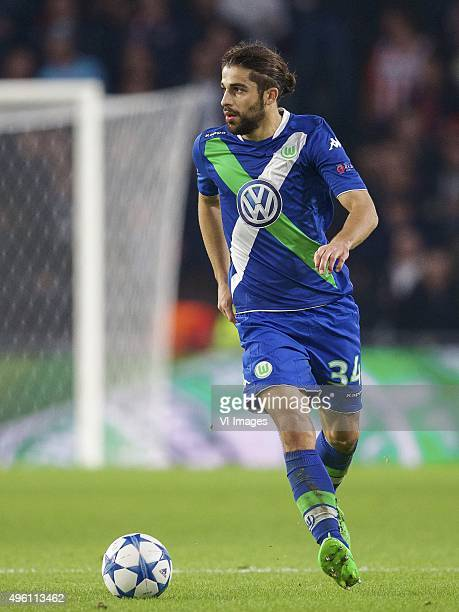 Ricardo Rodriguez of Vfl Wolfsburg during the UEFA Champions League match between PSV Eindhoven and VfL Wolfsburg on November 3 2015 in Eindhoven The...