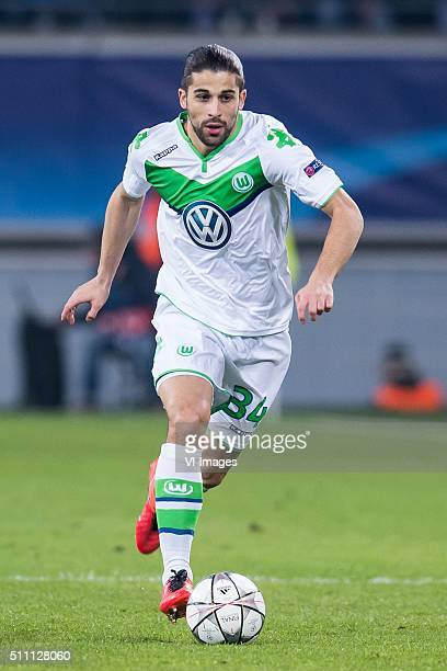 Ricardo Rodriguez of VFL Wolfsburg during the UEFA Europa League round of 16 match between KAA Gent and VfL Wolfsburg on February 17 2016 at the...