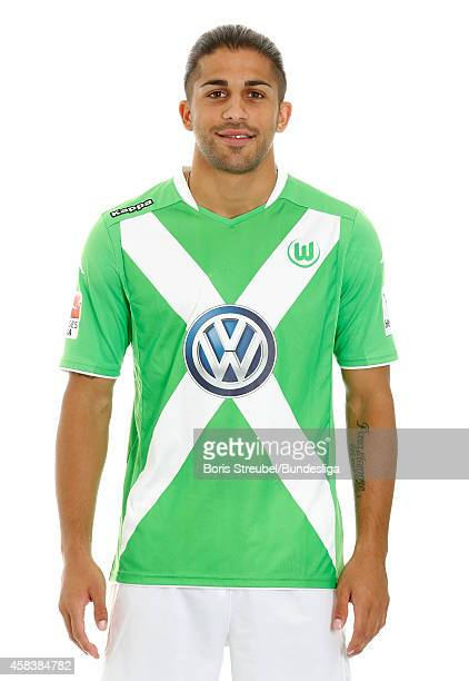 Ricardo Rodriguez of VfL Wolfsburg poses during the team presentation on July 30 2014 at Volkswagen Arena in Wolfsburg Germany