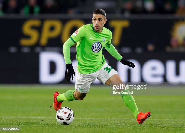 Ricardo Rodriguez of VfL Wolfsburg runs with the ball during the Bundesliga match between VfL Wolfsburg and Werder Bremen at Volkswagen Arena on...