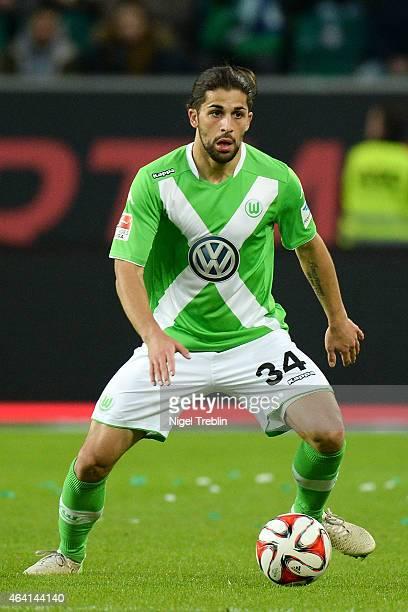Ricardo Rodriguez of Wolfsburg controls the ball during the Bundesliga match between VfL Wolfsburg and Hertha BSC Berlin at Volkswagen Arena on...