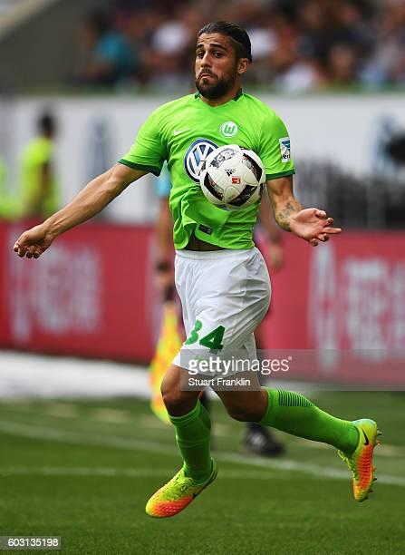 Ricardo Rodriguez of Wolfsburg in action during the Bundesliga match between VfL Wolfsburg and 1 FC Koeln at Volkswagen Arena on September 10 2016 in...