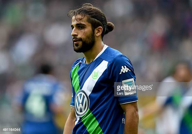 Ricardo Rodriguez of Wolfsburg looks on during the Bundesliga match between Borussia Moenchengladbach and VfL Wolfsburg at BorussiaPark on October 3...