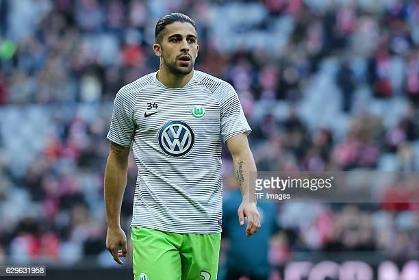 Ricardo Rodriguez of Wolfsburg looks on during the Bundesliga match between Bayern Muenchen and VfL Wolfsburg at Allianz Arena on December 10 2016 in...