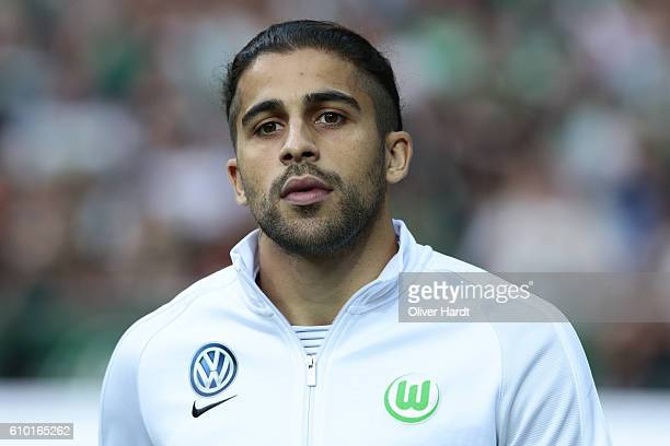 Ricardo Rodriguez of Wolfsburg looks on prior to the Bundesliga match between Werder Bremen and VfL Wolfsburg at Weserstadion on September 24 2016 in...