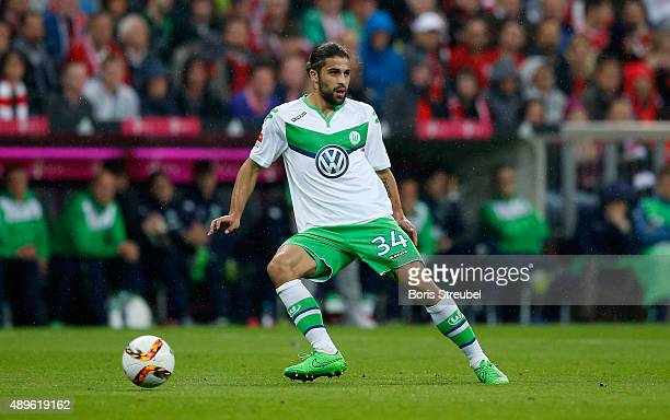 Ricardo Rodriguez of Wolfsburg runs with the ball during the Bundesliga match between FC Bayern Muenchen and VfL Wolfsburg at Allianz Arena on...