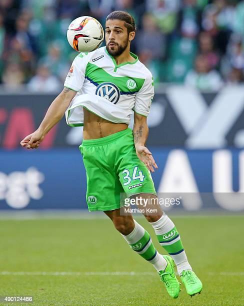 Ricardo Rodriguez of Wolfsburg runs with the ball during the Bundesliga match between VFL Wolfsburg and Hannover 96 at Volkswagen Arena on September...