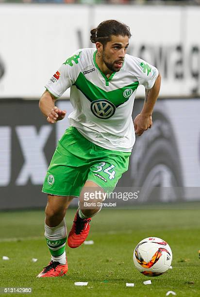 Ricardo Rodriguez of Wolfsburg runs with the ball during the Bundesliga match between VfL Wolfsburg and FC Bayern Muenchen at Volkswagen Arena on...