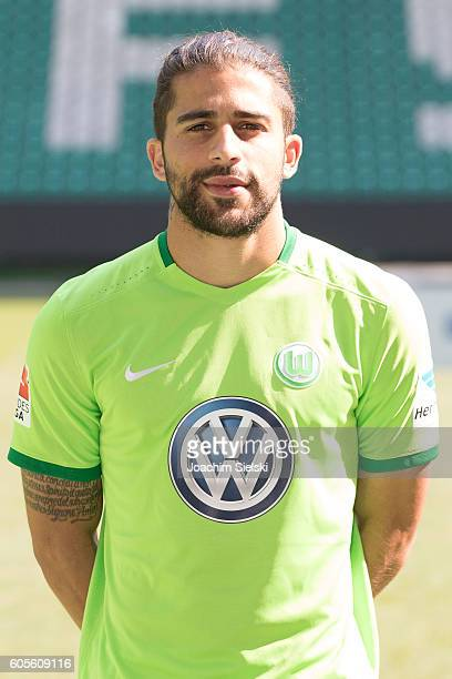 Ricardo Rodriguez poses during the official team presentation of VfL Wolfsburg at Volkswagen Arena on September 14 2016 in Wolfsburg Germany