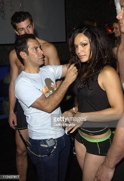 Ricardo Rojas and Mayte Garcia during Intimo Underwear Launches New Underwear Line 'PLAY' at Quo in New York City New York United States