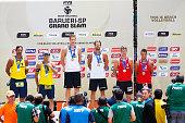 Ricardo Santos and Emanuel Rego silver medal of Brazil Christiaan Varenhorst and Reinder Nemmerdor gold medal of Netherlands and Piotr Kantor and...