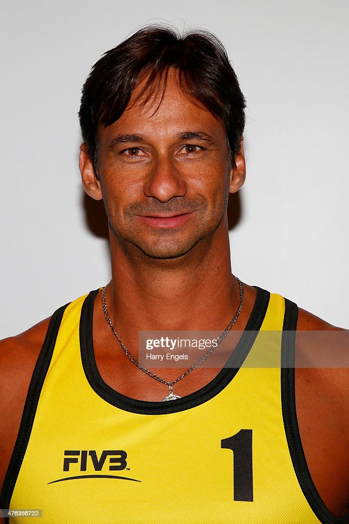 Ricardo Santos of Brazil poses for a portrait during the FIVB Moscow Grand Slam on May 26, 2015 in Moscow,Russia.
