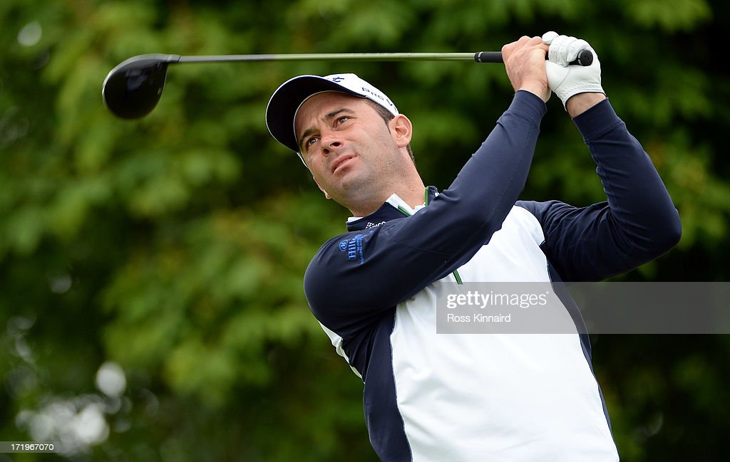 Ricardo Santos of Portugal during the final round of the Irish Open at Carton House Golf Club on June 30, 2013 in Maynooth, Ireland.