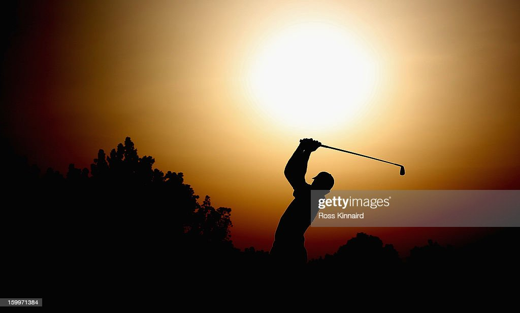 Ricardo Santos of Portugal during the second round of the Commercial Bank Qatar Masters at The Doha Golf Club on January 24, 2013 in Doha, Qatar.