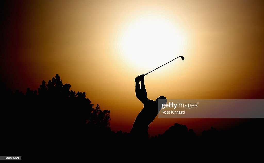 <a gi-track='captionPersonalityLinkClicked' href=/galleries/search?phrase=Ricardo+Santos+-+Golfspieler&family=editorial&specificpeople=14996103 ng-click='$event.stopPropagation()'>Ricardo Santos</a> of Portugal during the second round of the Commercial Bank Qatar Masters at The Doha Golf Club on January 24, 2013 in Doha, Qatar.