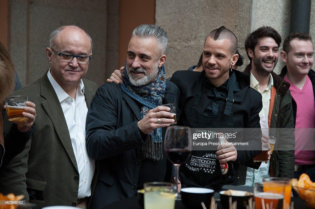Ricardo Sanz Sergi Arola and David Munoz attend Madrid Michelin Starred Chefs at Real Casa de Correos on January 26 2015 in Madrid Spain