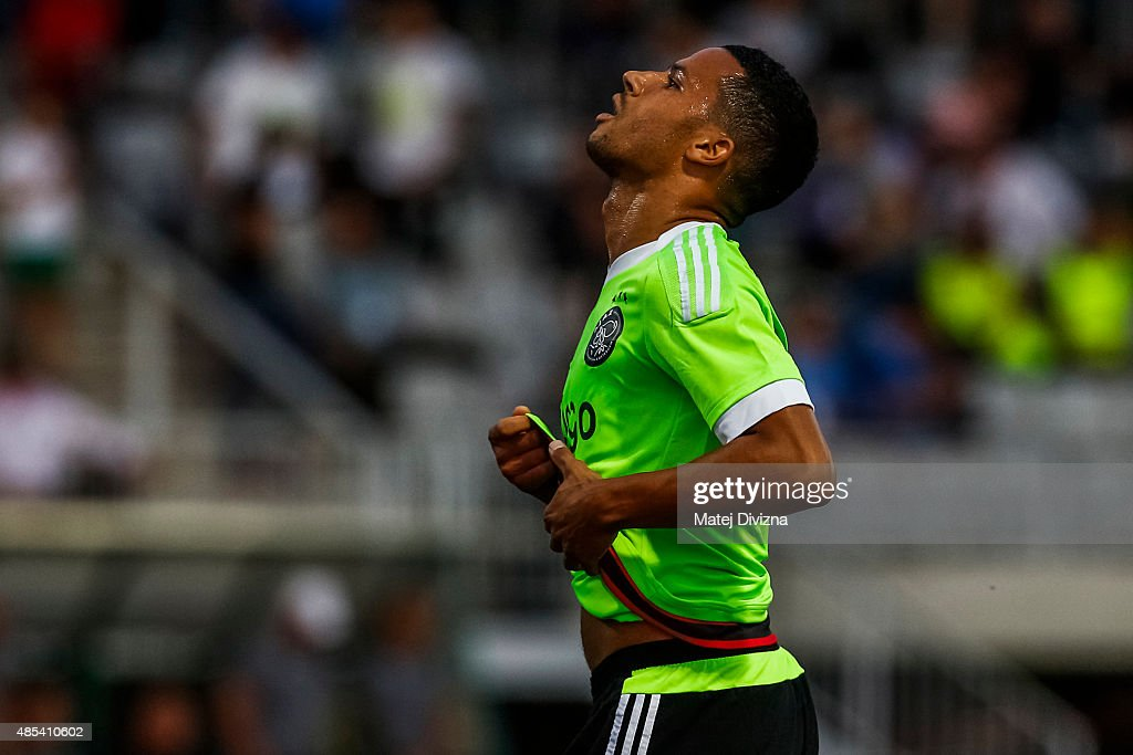 Ricardo Van Rhijn of Ajax Amsterdam reacts during the UEFA Europa League Play Off Round 2nd Leg match between FK Jablonec and Ajax Amsterdam on August 27, 2015 in Jablonec nad Nisou, Czech Republic.