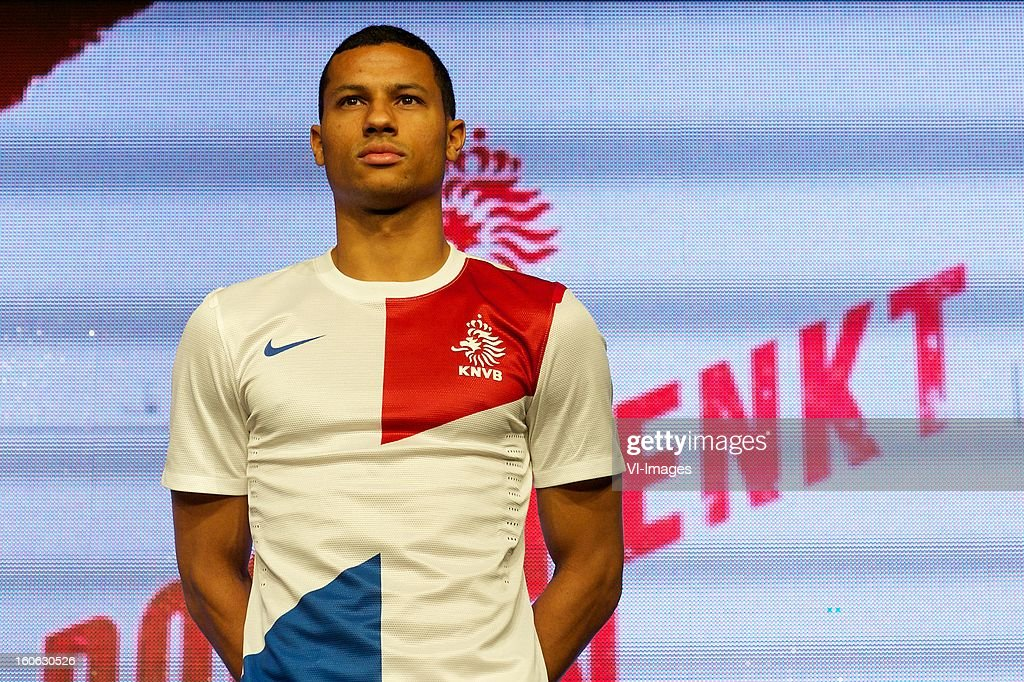 Ricardo van Rhijn of Ajax during the presentation of the new Netherlands National team kit on February 4, 2013 at Amsterdam, Netherlands.