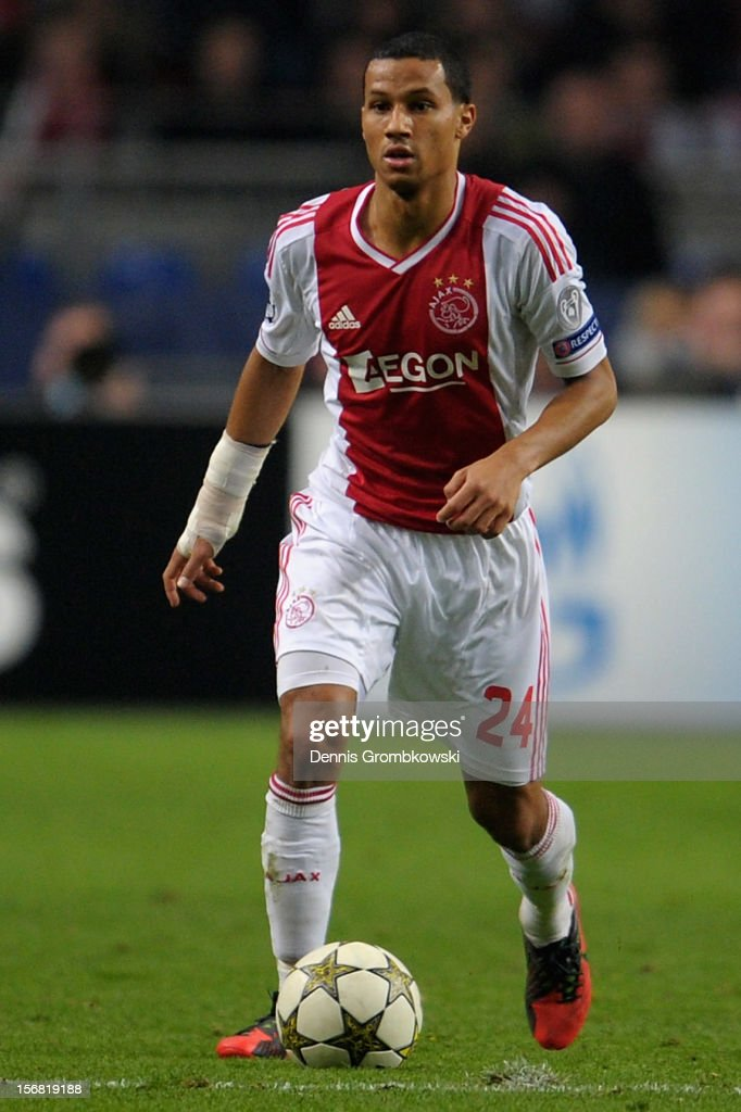 Ricardo van Rhijn of Amsterdam controls the ball during the UEFA Champions League Group D match between Ajax Amsterdam and Borussia Dortmund at Amsterdam Arena on November 21, 2012 in Amsterdam, Netherlands.