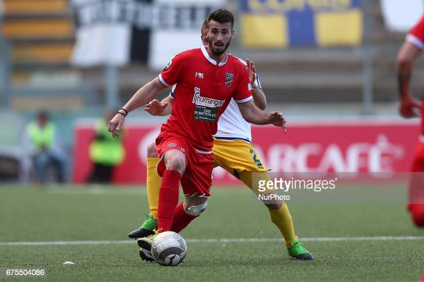Riccardo Barbuti of Teramo Calcio in action during Lega Pro round B match between Teramo Calcio 1913 and Parma Calcio at Stadium Gaetano Bonolis on...