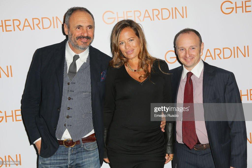 Riccardo Braccialini Jade Jagger and Lorenzo Braccialini attend the Gherardini Boutique Opening during the Milan Fashion Week Womenswear...