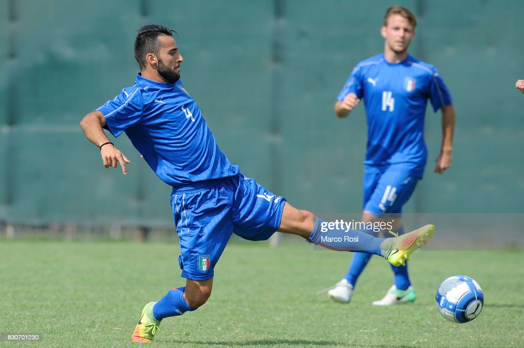 Riccardo Chiarello of Italy during the frienldy match between Italy University and ASD Audace on August 12, 2017 in Rome, Italy.