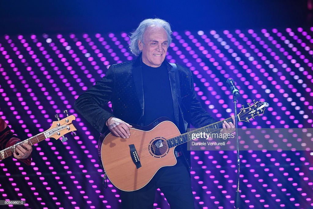 Riccardo Fogli attends the third night of the 66th Festival di Sanremo 2016 at Teatro Ariston on February 11, 2016 in Sanremo, Italy.