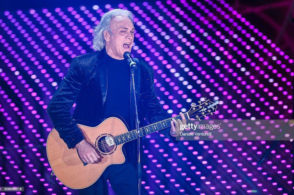 Riccardo Fogli attends the third night of the 66th Festival di Sanremo 2016 at Teatro Ariston on February 11, 2016 in Sanremo, Italy.