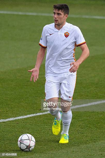 Riccardo Marchizza of AS Roma during the Youth League match between Paris SaintGermain and AS Roma at Camp des Loges on March 9 2016 in Paris France