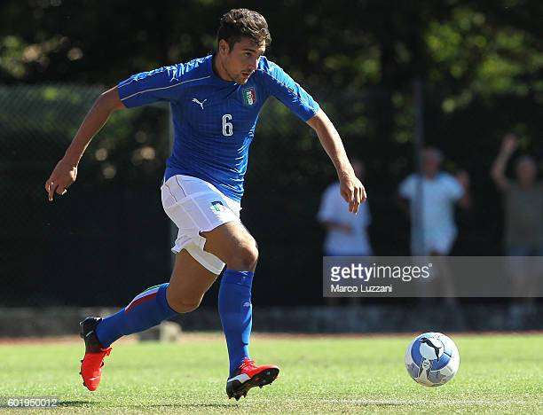 Riccardo Marchizza of Italy in action during the international friedly match between Italy U19 and Turkey U19 on September 6 2016 in Fidenza Italy