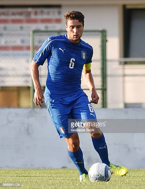 Riccardo Marchizza of Italy U19 in action during the international friendly match between Italy U19 and Croatia U19 at on August 11 2016 in Manzano...