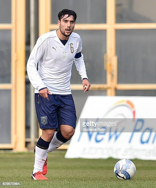 Riccardo Marchizza of Italy U19 in action during the International Friendly match between Italy U19 and Serbia U19 on December 14 2016 in San...