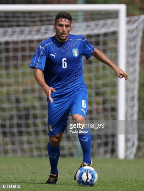 Riccardo Marchizza of Italy U20 in action during the friendly match between Italy U20 and ASD Trastevere on August 31 2017 in Rome Italy