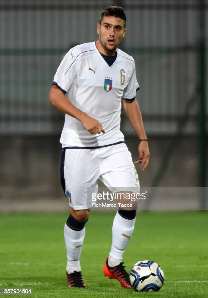 Riccardo Marchizzii of Italy U20 in action during the 8 Nations Tournament match between Italy U20 and England U20 on October 5 2017 in Gorgonzola...