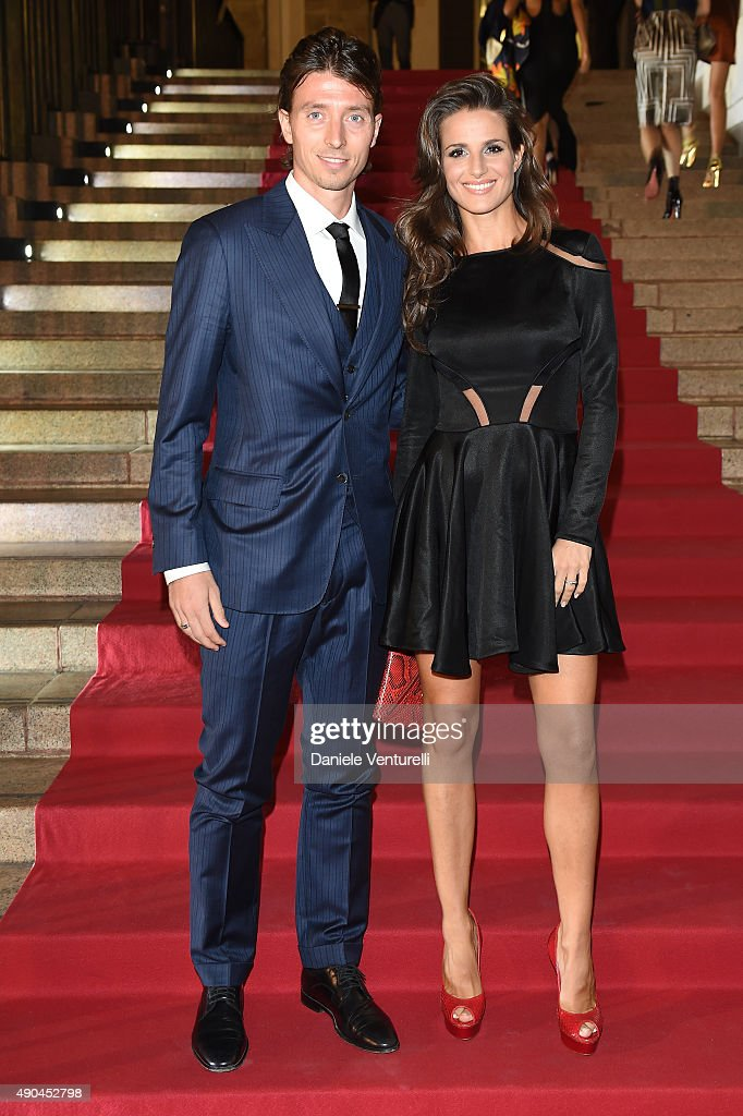 Riccardo Montolivo (L) attends Vogue China 10th Anniversary at Palazzo Reale on September 28, 2015 in Milan, Italy.