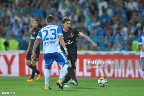 Riccardo Montolivo of AC Milan control the ball during CSU Craiova v AC Milan UEFA Europa League 2017/2018 Third Qualifying Round in Drobeta Turnu...