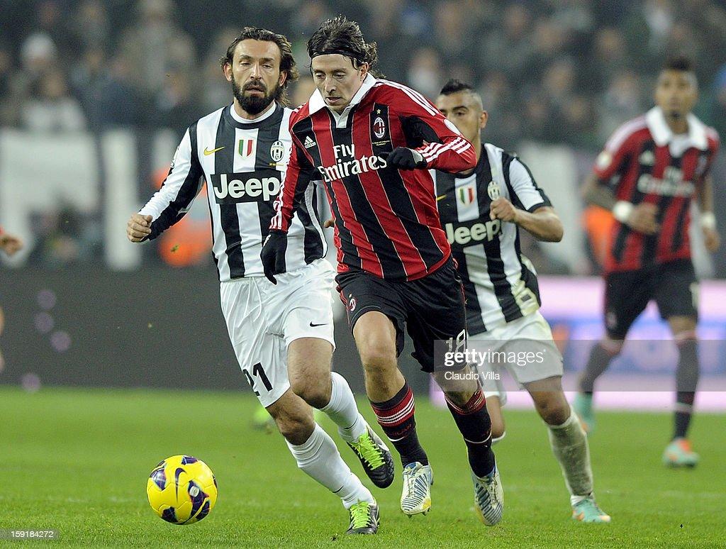Riccardo Montolivo of AC Milan during the TIM cup match between Juventus FC and AC Milan at Juventus Arena on January 9, 2013 in Turin, Italy.