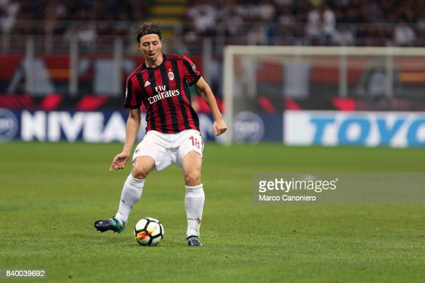 Riccardo Montolivo of Ac Milan in action during the Serie A football match between AC Milan and Cagliari Calcio Ac Milan wins 21 over Cagliari Calcio