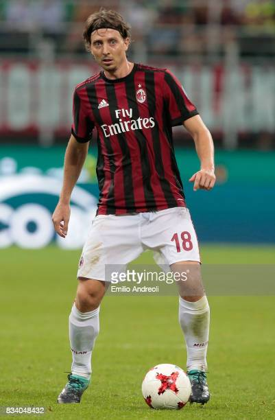 Riccardo Montolivo of AC Milan in action during the UEFA Europa League Qualifying PlayOffs round first leg match between AC Milan and KF Shkendija 79...