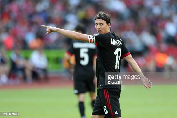 Riccardo Montolivo of AC Milan looks on during the 2017 International Champions Cup football match between AC Milan and FC Bayern Muenchen on July 22...
